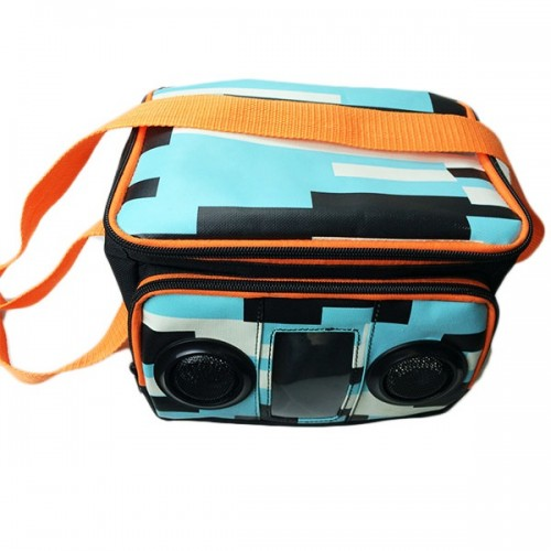 colored 6 can Cooler bag with speakers