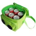 green 6 can Cooler bag with speakers