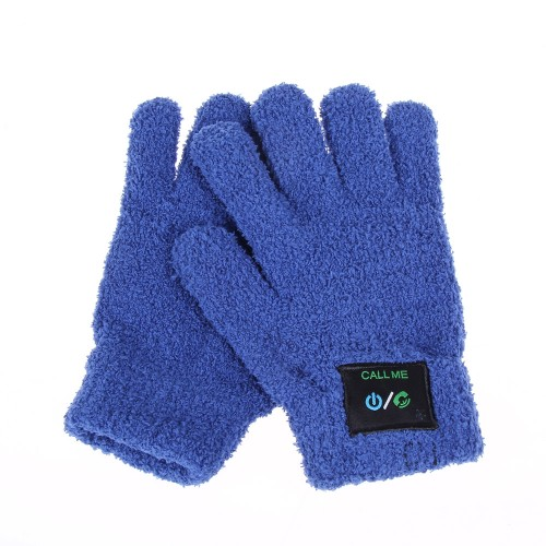 blue phone glove