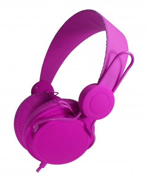 purple headset