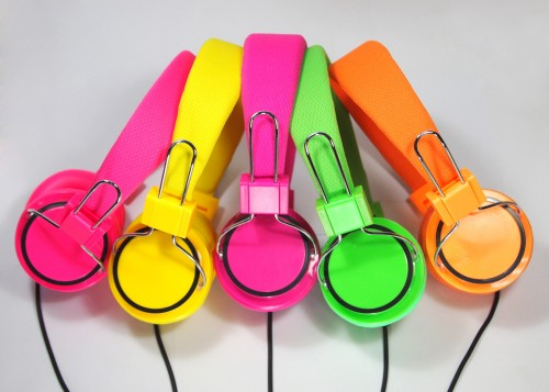 colored headphone