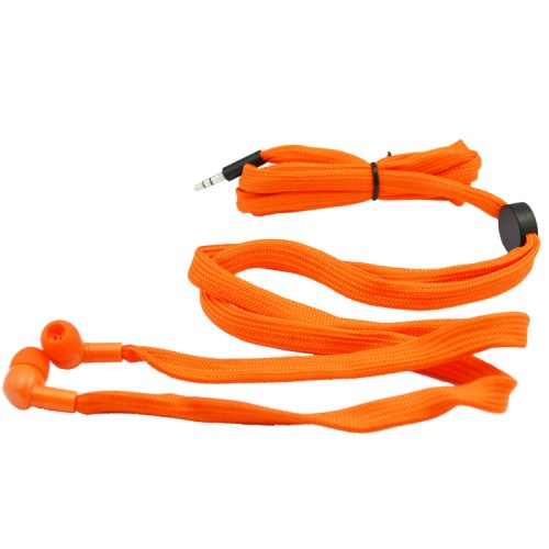 orange shoelace earphones