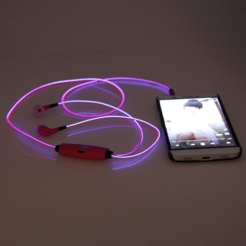 led light flashing earbuds