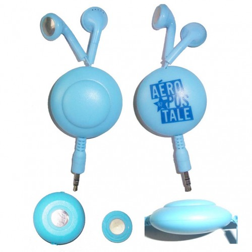 magnetic retractable earphones