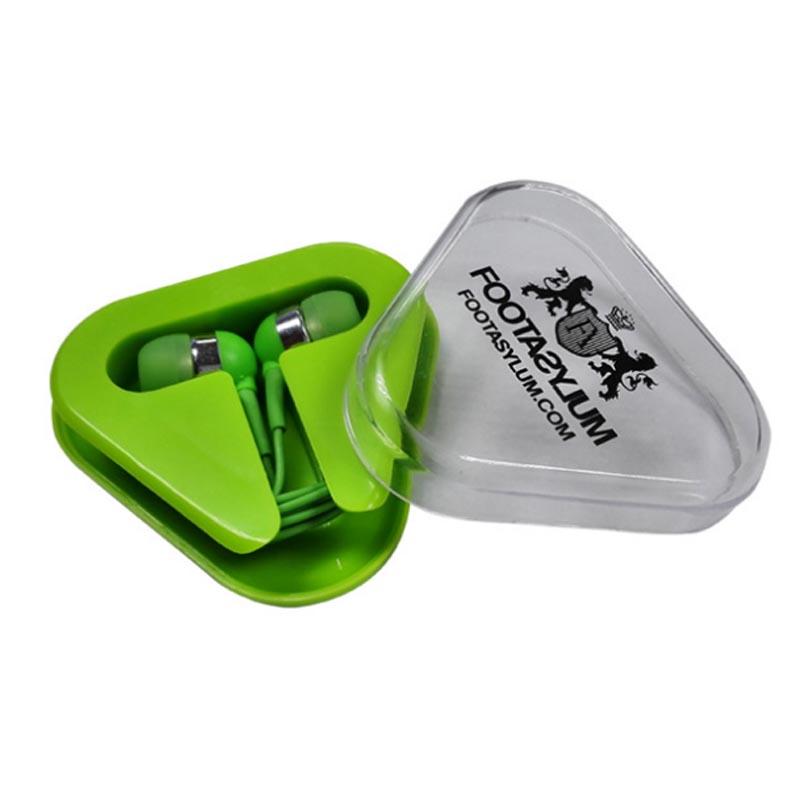 Earbuds wrap case - earphone case triangle