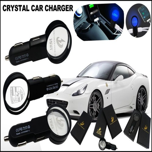 glowing logo car charger