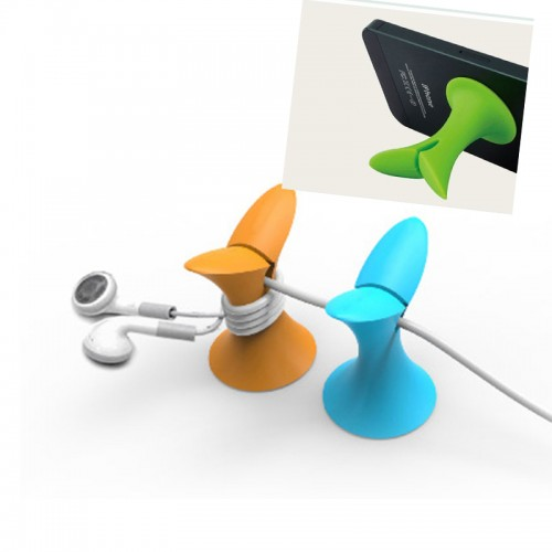 silcone phone holder,cable winder