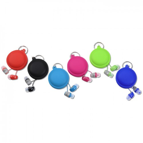 macaroon cord winder with earbuds