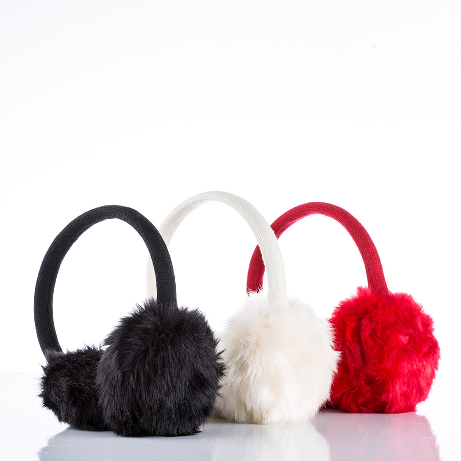 faux fur earmuff winter headband headphones for giveaways. Black Bedroom Furniture Sets. Home Design Ideas