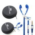 zipper earbud with pvc zipper puller