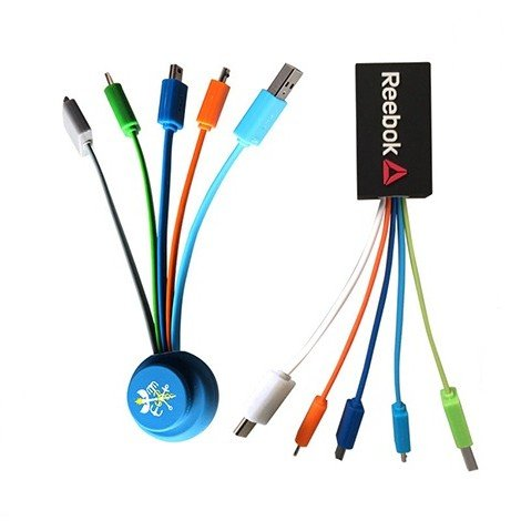 4 In 1 Charger Cable With Custom Shape Brand Logo