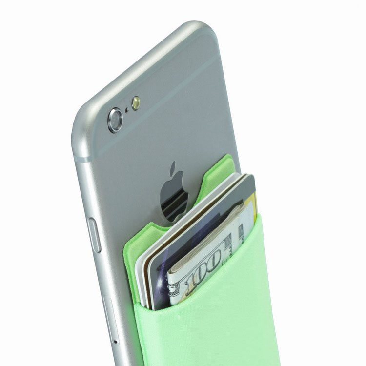 Mobile Phone Wallet Adhesive With Custom Logo For Giveaways