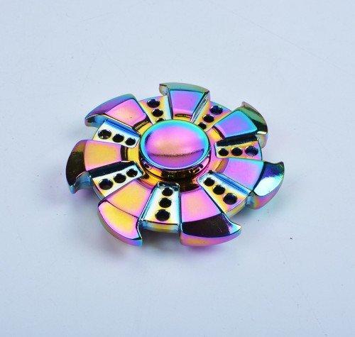 Tri-Spinner Fidget Hand Spinner Toy Stress Reducer (2)