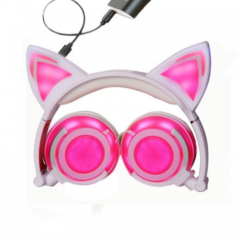 cat ear headphones color changing