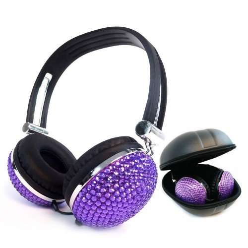 crystal rhinestone bling headphone