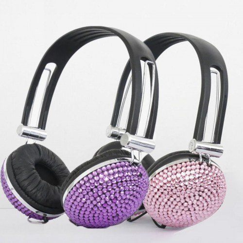 crystal rhinestone bling headphone