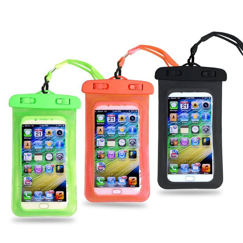 promo code a9a96 a6452 Waterproof Promotional PVC Cellphone Pouch with Lanyard