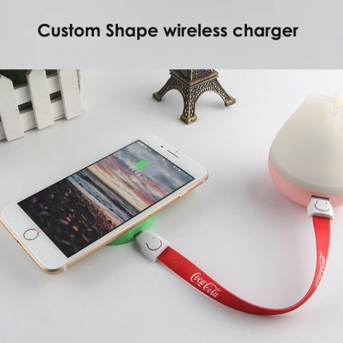 custom PVC shaped wireless charger pad