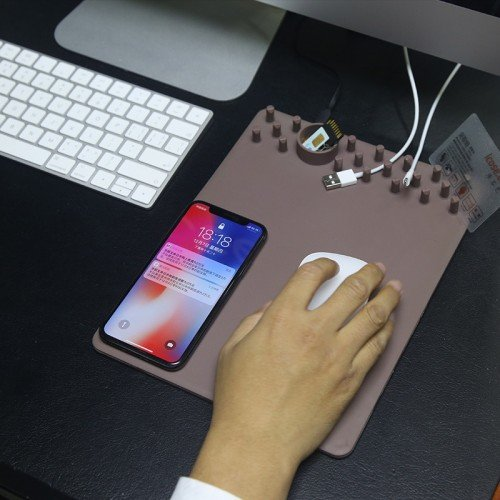 Multi Functional Wireless Charging Mouse Pad