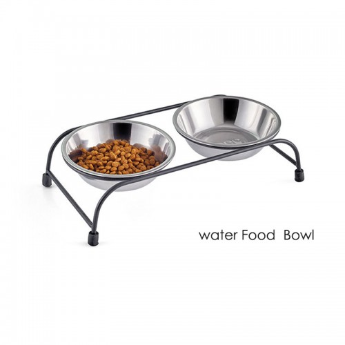 Elevated double dog bowls