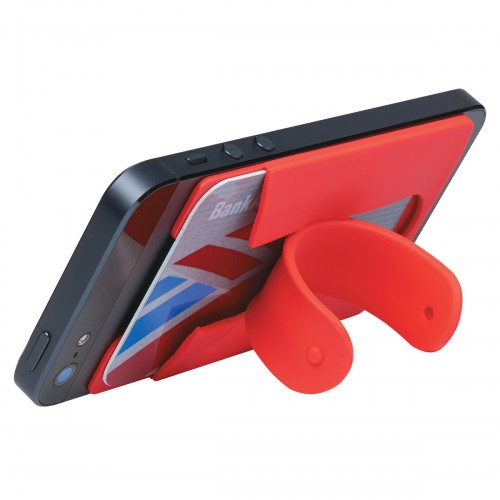 cell phone card holder with stand